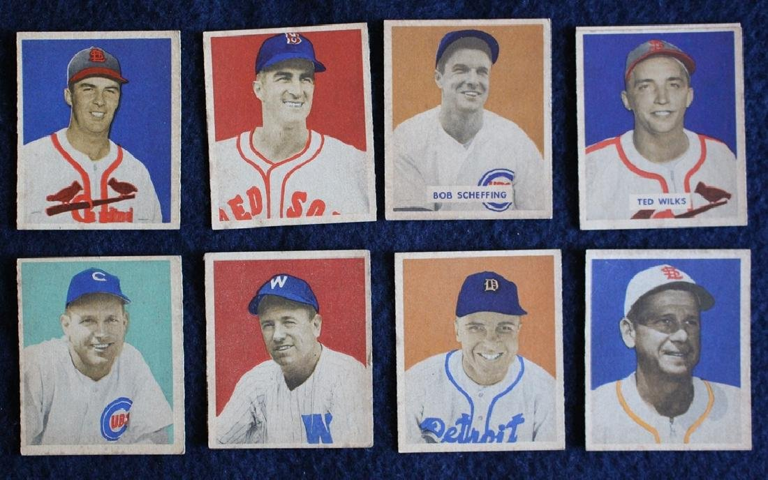 (56) Different 1949 Bowman Baseball Cards with Stars - 5
