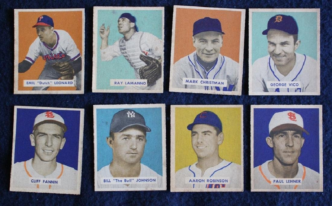(56) Different 1949 Bowman Baseball Cards with Stars - 7
