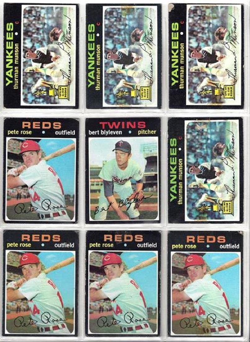 1971 Topps Baseball Card Lot, (800+) Cards w Stars