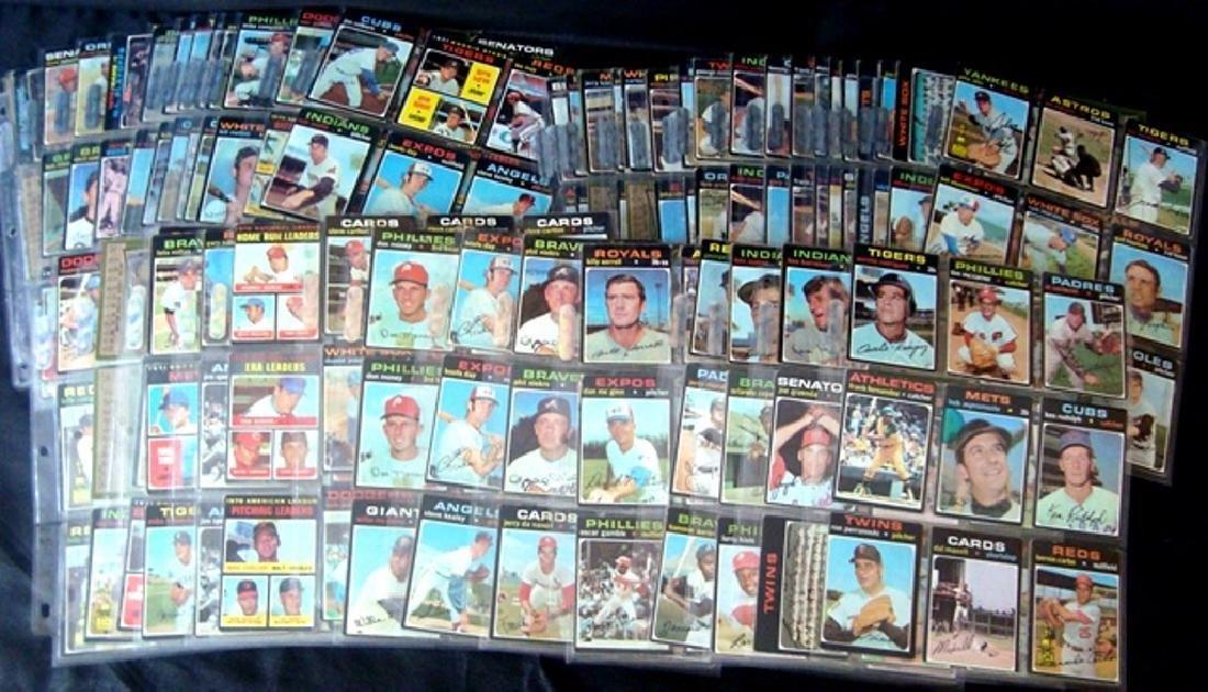 1971 Topps Baseball Card Lot, (800+) Cards w Stars - 3