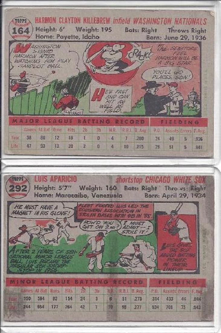 1956 Topps Baseball Card Lot, (136 Cards, w Killebrew, - 2