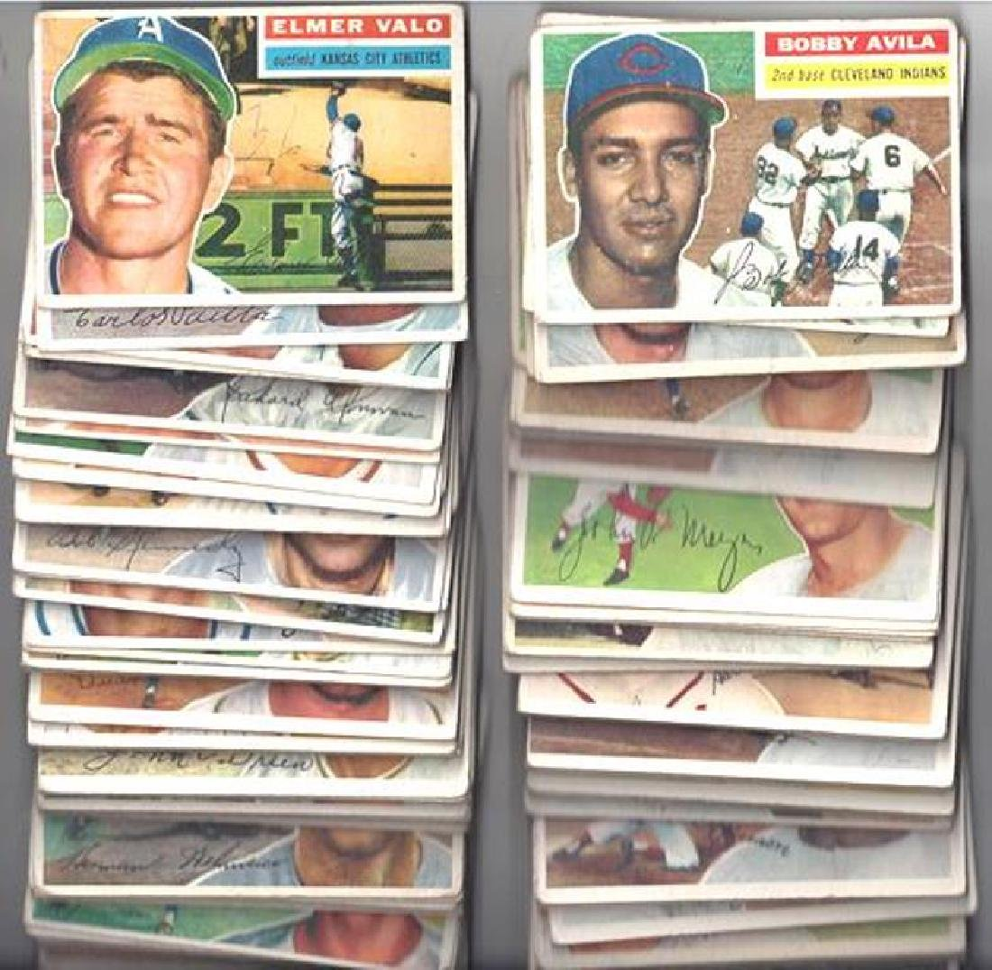 1956 Topps Baseball Card Lot, (136 Cards, w Killebrew, - 3