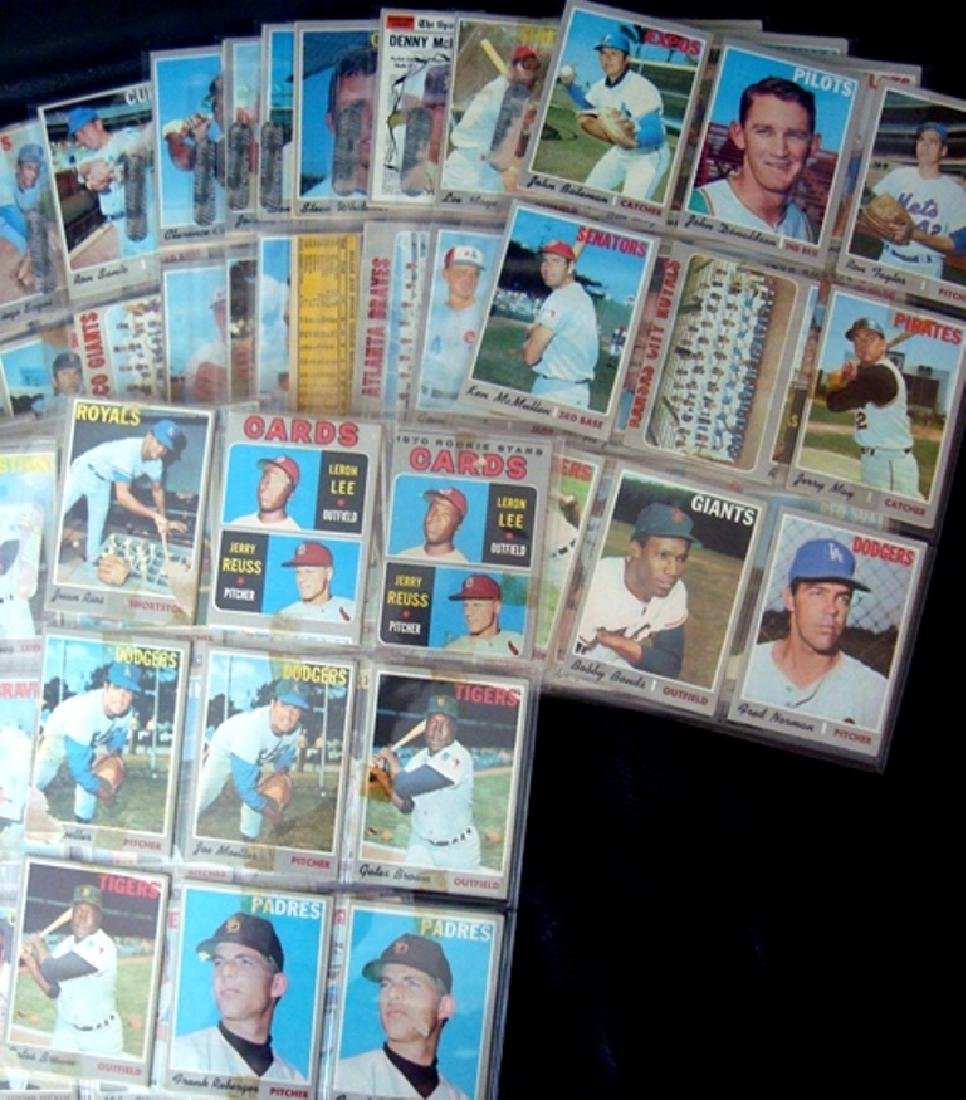 1970 Topps Baseball Card Lot, (525 Cards ++) with Stars - 5
