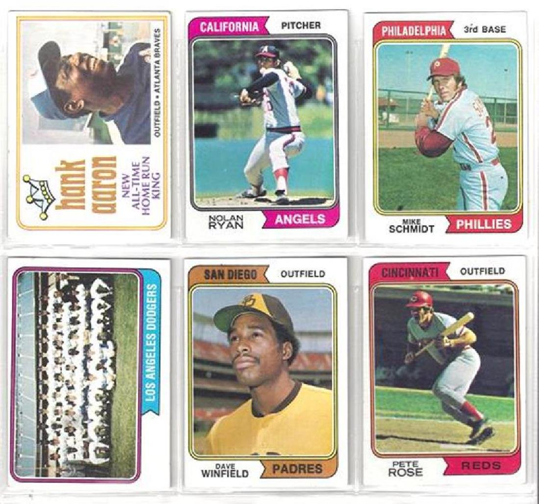 1974 Topps Baseball Card Complete Set, (660 Cards)