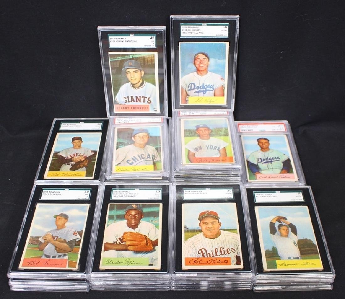 (37)1954 Bowman Baseball SGC & PSA Graded Cards