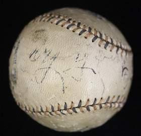 Cy Young Autographed 1909 Ban Johnson OAL Baseball