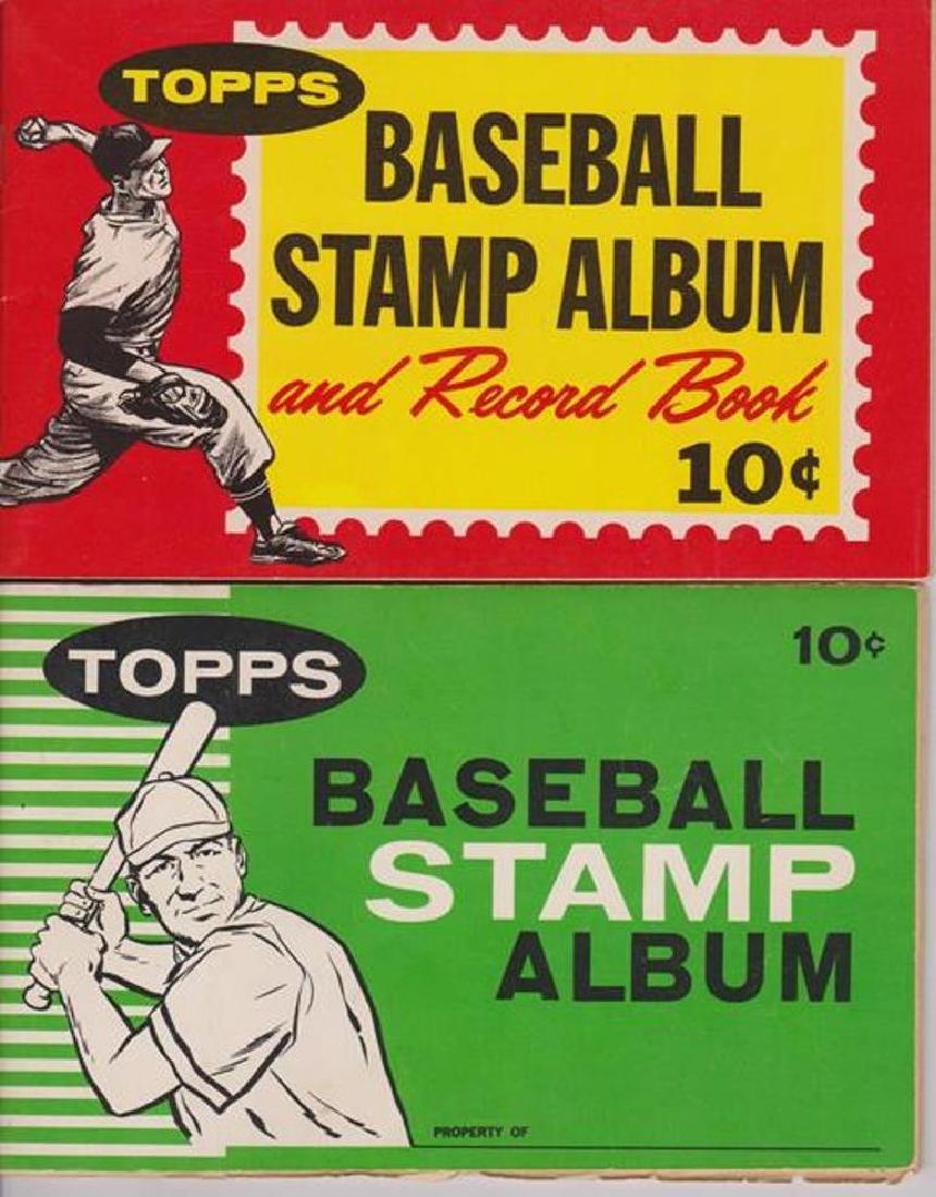 1961-62 Topps Baseball Stamp Albums w Stars