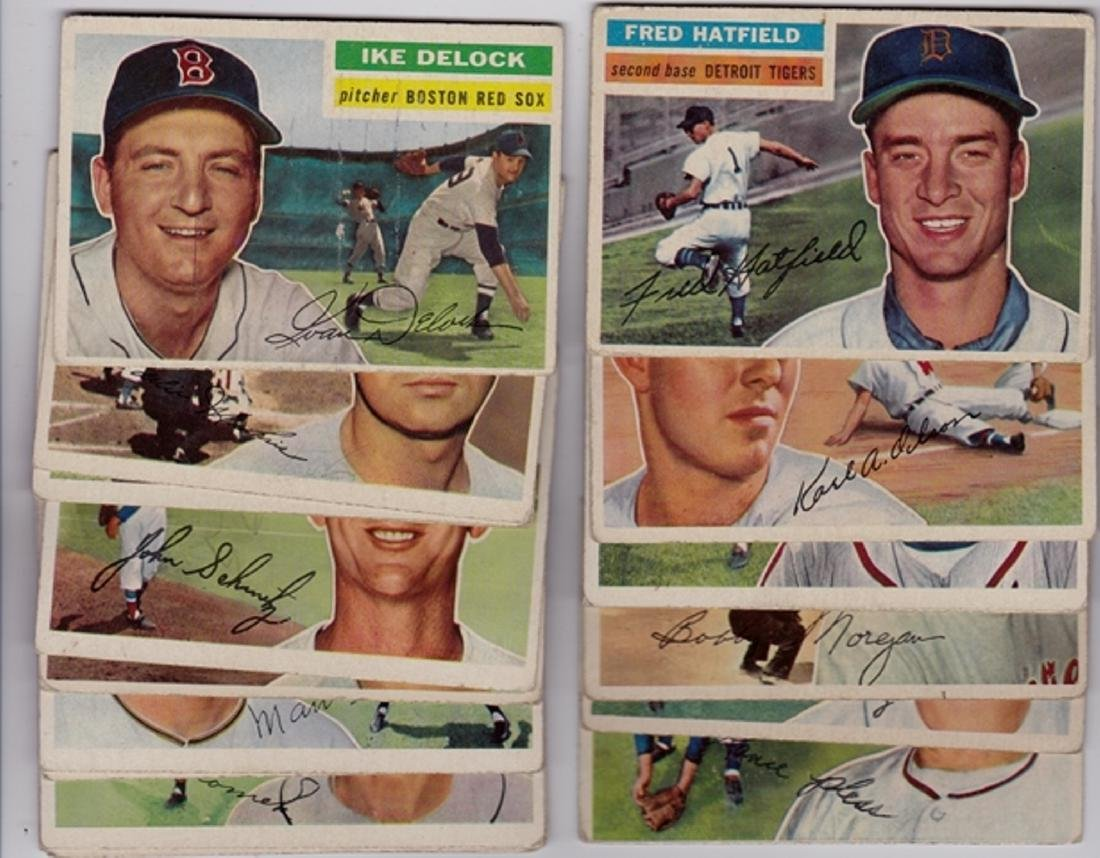 1956 Topps Baseball Card Lot, (58) Cards - 2
