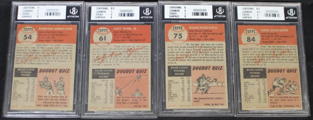 (4) 1953 Topps Cleveland Indians cards Beckett 4,4.5 - 2