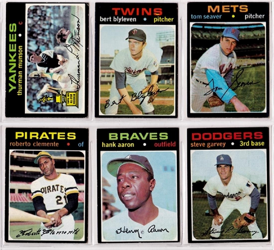 1971 Topps Baseball Card Lot, (300+) Cards w Stars