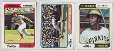 1974 Topps Baseball Near Set, NM Missing (5) Cards