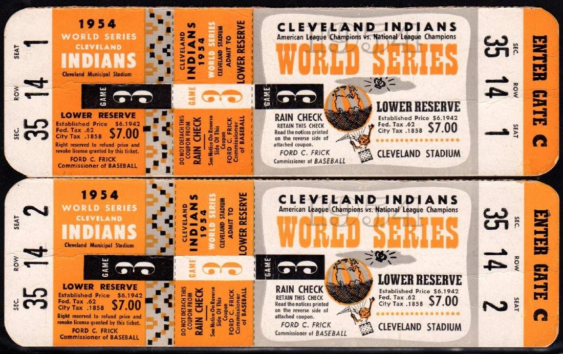 Pair of Unused Full Tickets for Game 3 World Series at
