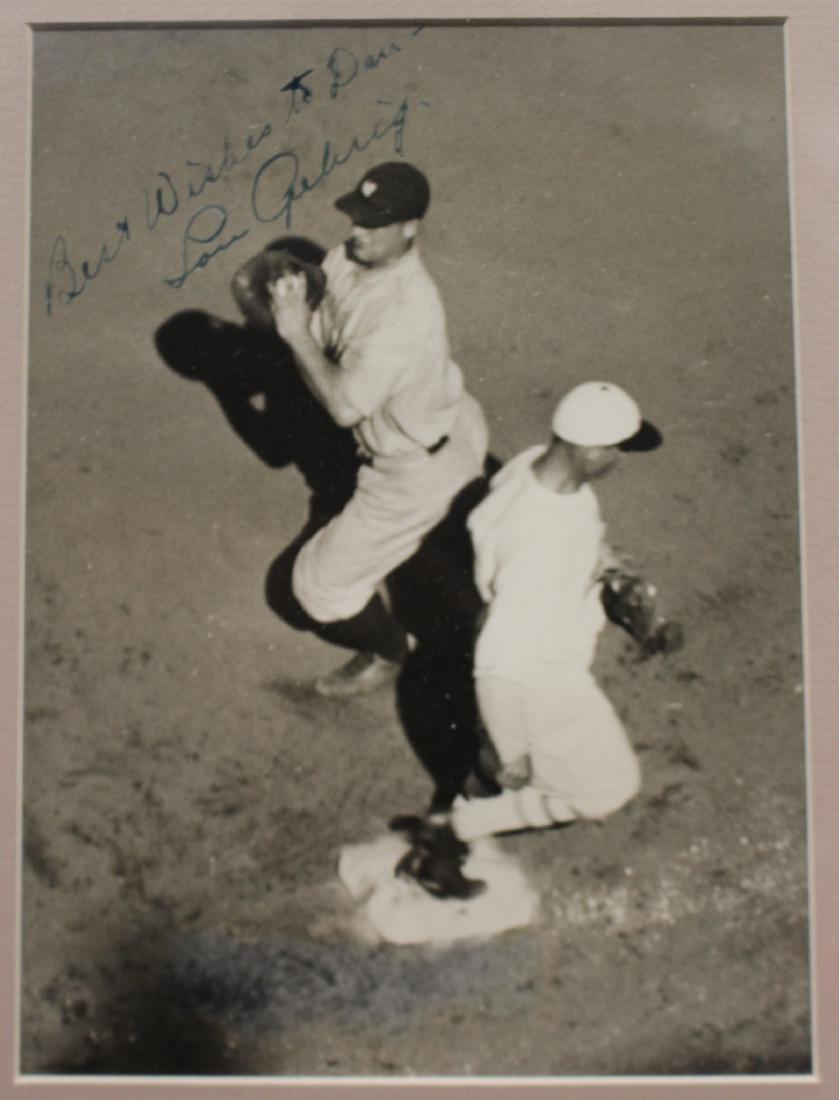 Lou Gehrig Autographed International Newsreel Wire