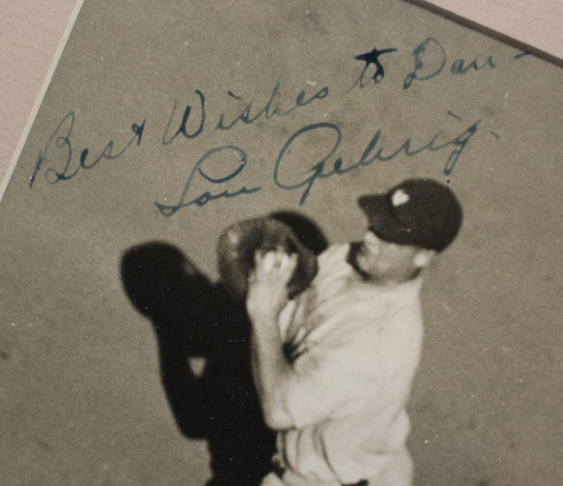 Lou Gehrig Autographed International Newsreel Wire - 2