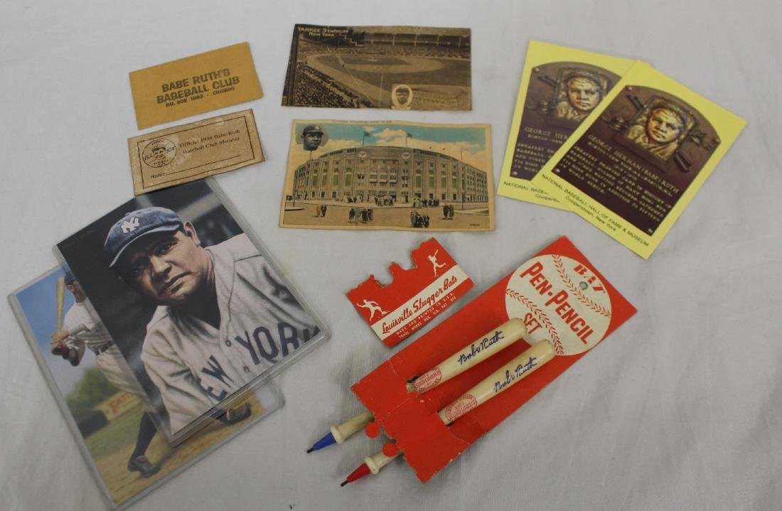 Babe Ruth Pen & Pencil Set Plus more