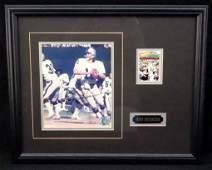 107A: Ken Stabler Signed Display Plaque, JSA