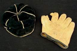 147A: Early 1900's Childs Vintage Baseball Glove and Ca