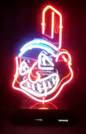 207: Cleveland Indians Chief Wahoo Neon Sign