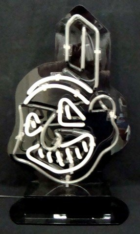 207: Cleveland Indians Chief Wahoo Neon Sign - 2
