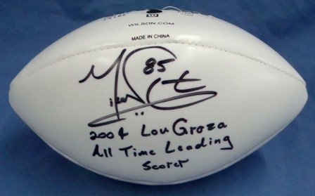 1: Mike Nugent Signed & Inscribed Wilson Mini Football,