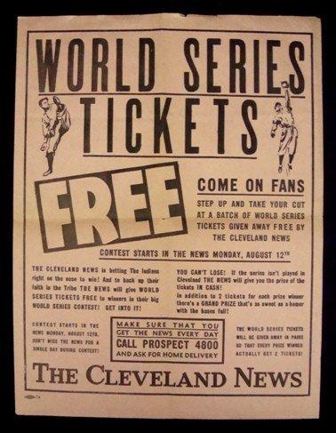5: 1948 World Series Cleveland News Broadside