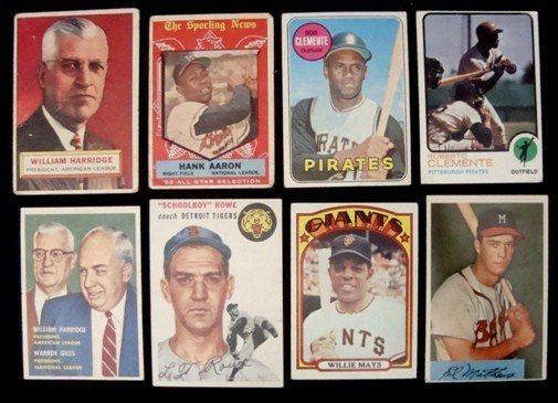 9A: Lot of (8) Vintage Star Cards 1954-73