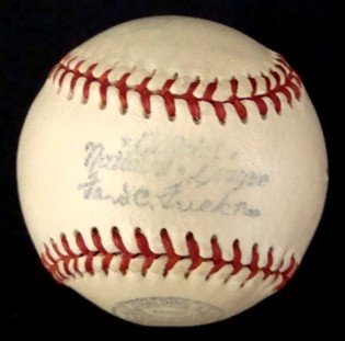 10: 1940's Ford Frick Miniature Baseball, Little League