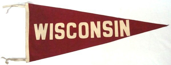 11A: 1940's Univ of Wisconsin Full Size Pennant