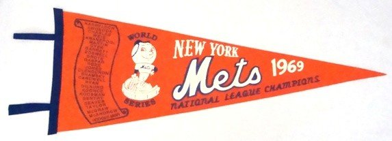 12: 1969 New York Mets NL Champions WS Scroll Pennant