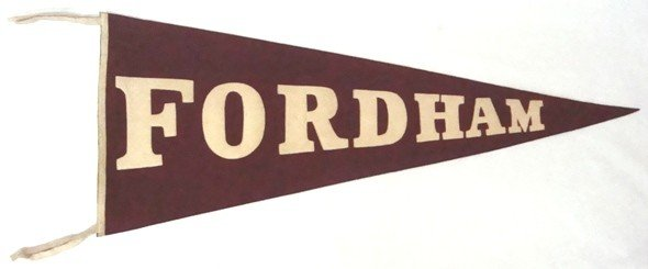 12A: 1940's Fordham University Full Size Pennant