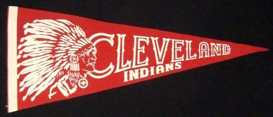 13: Circa 1940's Cleveland Indians Pennant, EXMT