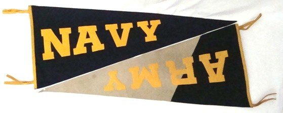13A: 1940's Army/Navy Full Size Pennants