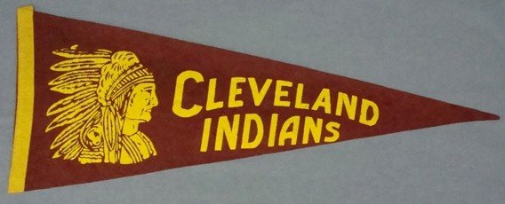 14: Circa 1940's Cleveland Indians Pennant, EX