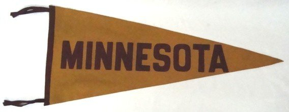 14A: 1940's Univ of Minnesota Full Size Pennant