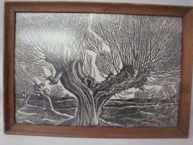 3: Woodblock of Surreal Forest