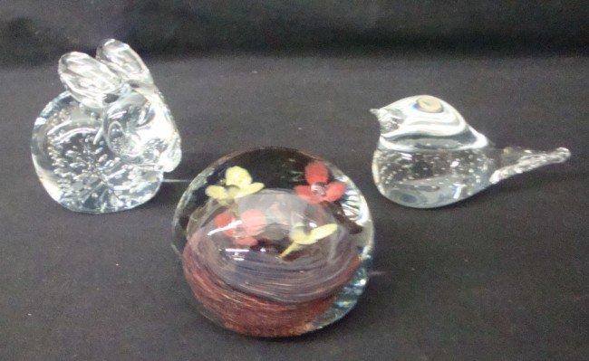 5: Three Tiffin Glass Paperweights