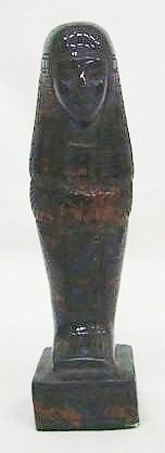 8: 19th c. Carved Stone Egyptian Mummy Statue