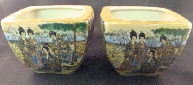 14: Pair of Satsuma Chinoiserie Decorative Bowls