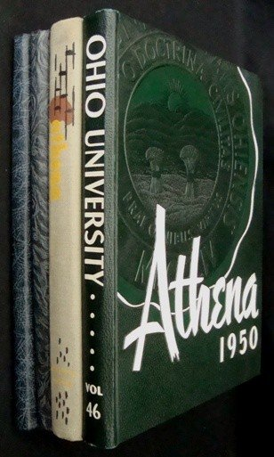 2: Lot of 4 High School and College Yearbooks