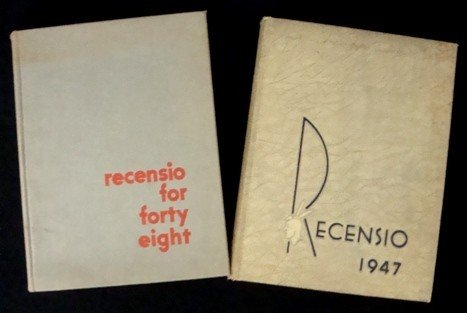 """4: Miami Univ """"Recensio"""" Yearbooks; 1947-48"""