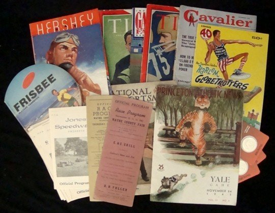 6: Lot of Vintage Sports Programs