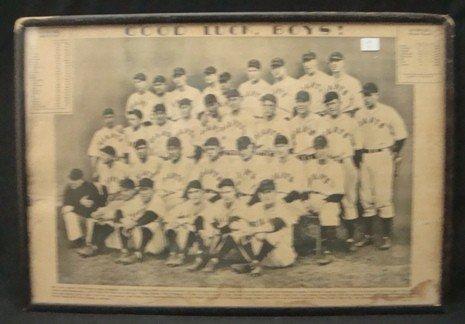 8: 1933 NY Giants NL Champs Team Photogravure