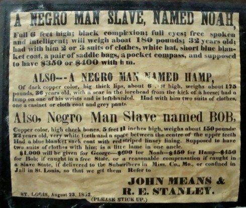 9: 1852 Runaway Slave Poster
