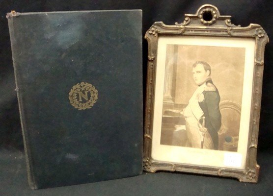 14: Early 19th C. Napoleon Lithograph w. Book