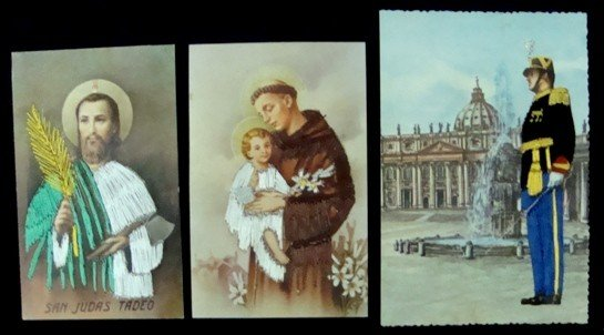 97: Lot of 13 Embroidered Religious Postcards - 3