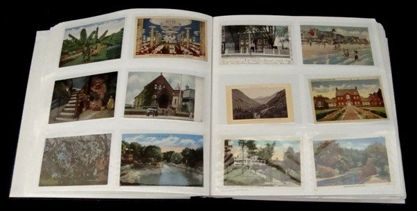 99: Lot of 800+ Early 20th Century/Linen Postcards