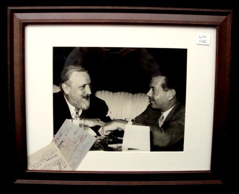 110A: Cole Porter/Monty Woolley Signed Checks w Photo