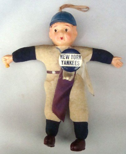 9: Vintage NY Yankees Celluloid Doll