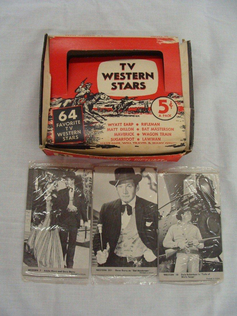 6: 1960's Nu-Card TV Western Stars Display Box with Car
