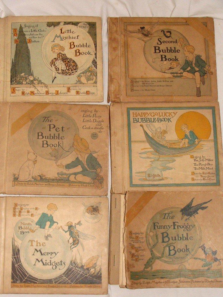 11: Lot of 6 Harper Columbia Bubble Books 1918 +
